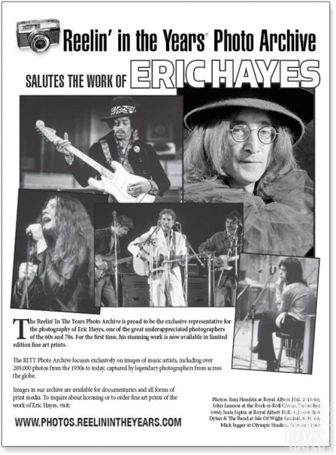 Reelin' in the Years salute to Eric Hayes