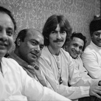 George Harrison and musicians from India