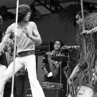 Rolling Stones: Mick Jagger at Hyde Park Sympathy For Devil 1969