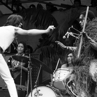 Rolling Stones: Mick Jagger at Hyde Park Sympathy For Devil 1969