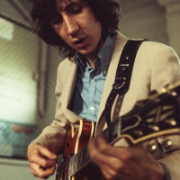 The Who: guitarist Pete Townshend during rehearsal session